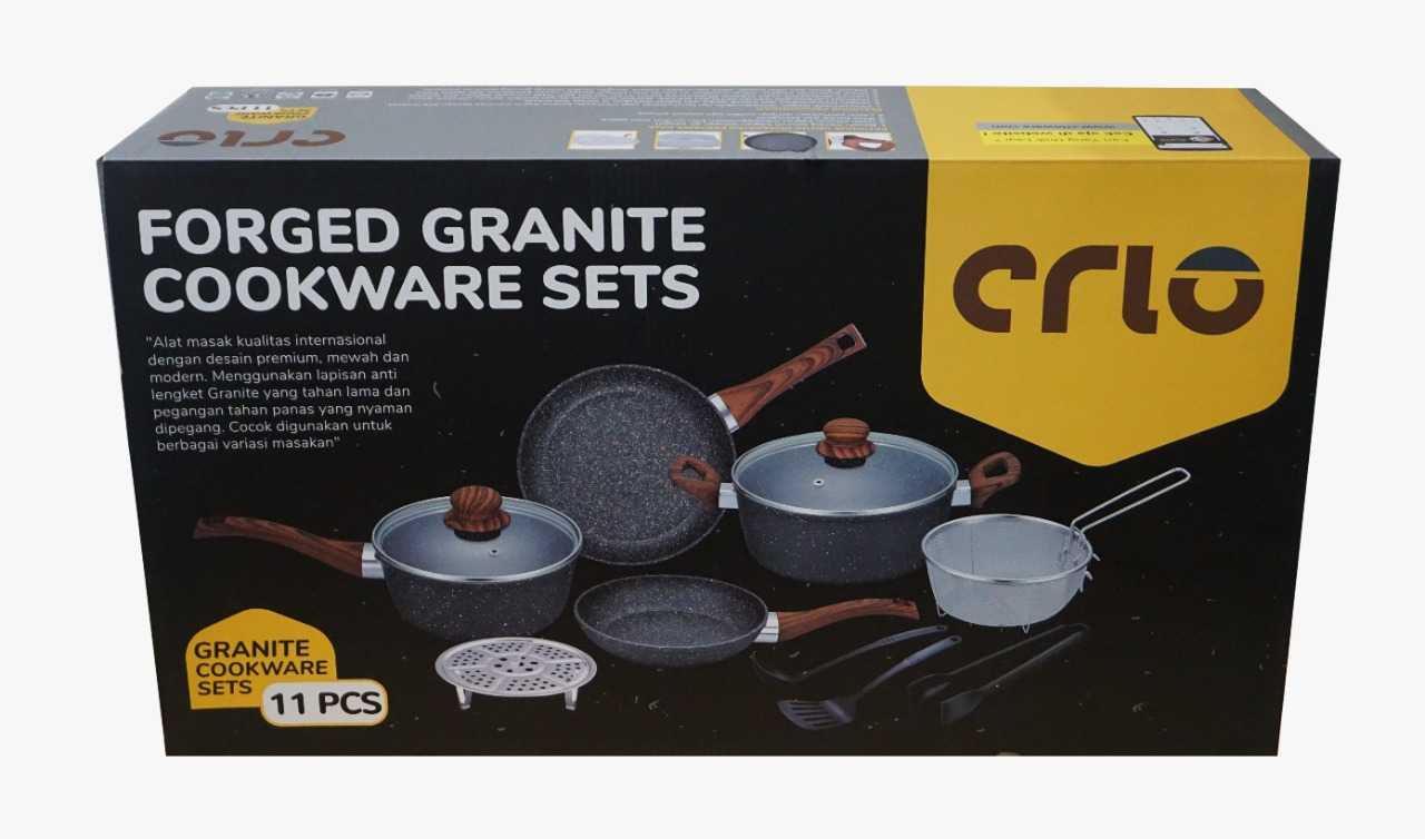 CRIO Royale Granite Stone Cookware 11pc